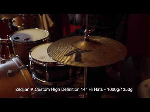 "Zildjian K Custom High Definition 14"" hi hat cymbals - Swiss Cymbals Demo #2 (SOLD)"