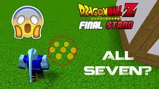 FOUND ALL 7 DRAGONBALLS IN DRAGONBALL Z FINAL STANDS | ROBLOX