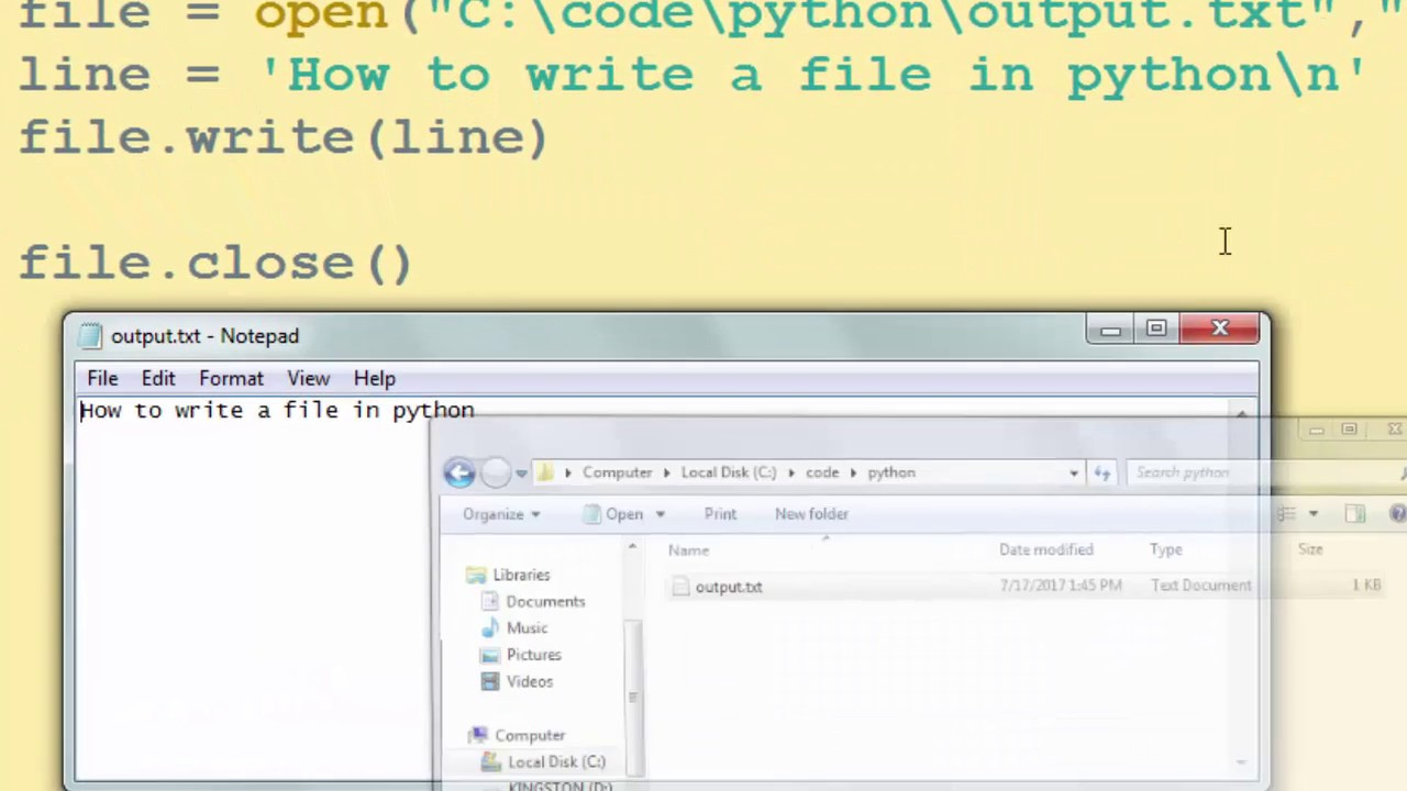 How to Write to a File in Python Language - YouTube