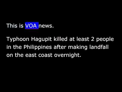 VOA news for Monday, December 8th, 2014