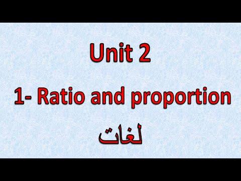 Prep3- 1st term  2.1 -Ratio and proportion  شرح ماث ثالثه إعدادى لغات