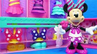 米妮整理衣櫥兒童小故事,米奇妙妙屋的過家家玩具