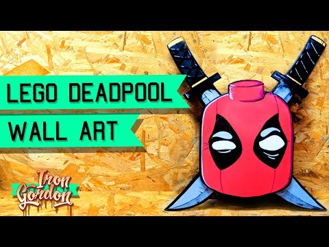 Lego Deadpool Wood Cutout Wall Art – Painting with Kids – sign painting