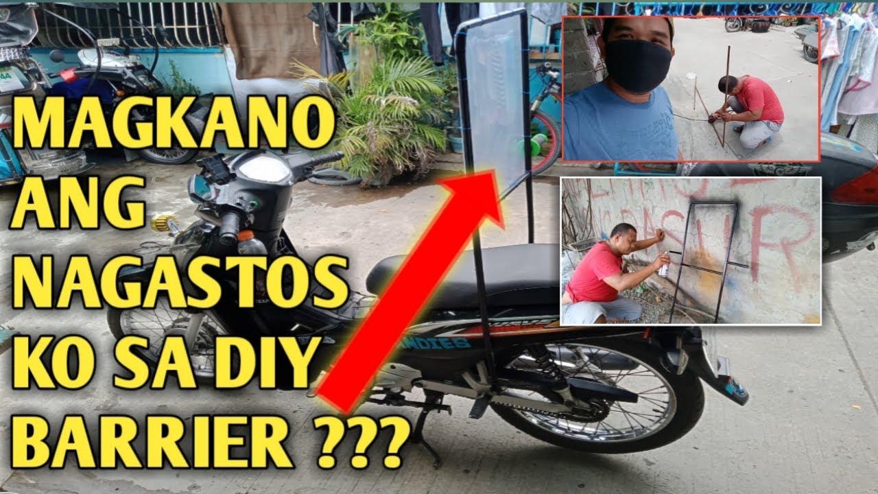 MOTORCYCLE BARRIER MAGKANO ANG NAGASTOS KO |  IWAS COVID DAW KUNO SAFE KAYA ?