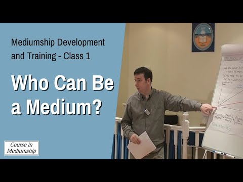 Mediumship Development Class 1 Clip - Who Can Be a Medium? - by Martin Twycross