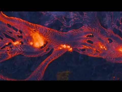 Lava from Hawaii volcano courses toward Big Island coast
