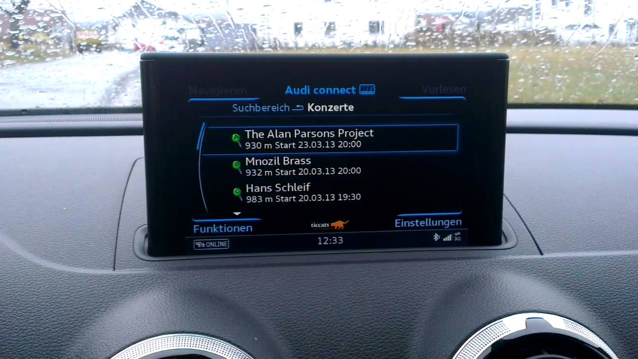 Audi A3 Sportback Mmi Navigation Plus Mmi Touch Audi Connect Apps Youtube