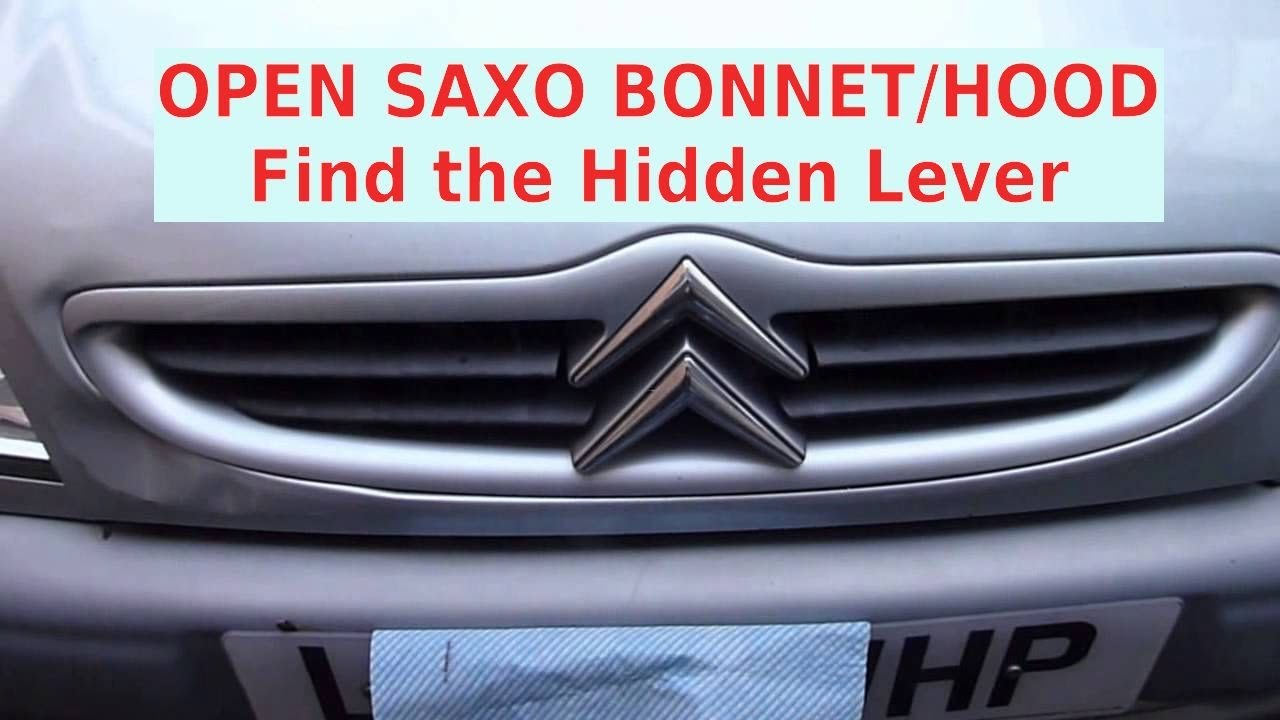 small resolution of how to open citroen saxo 1 1 i desire bonnet hood