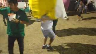 Mojigangas en Tetecala 2013, Bailando en el corral de toros