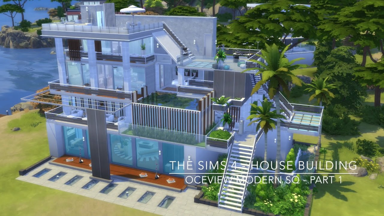 The sims 4 house building oceview modern sq part 1 for Keralis modern house 9 part 1