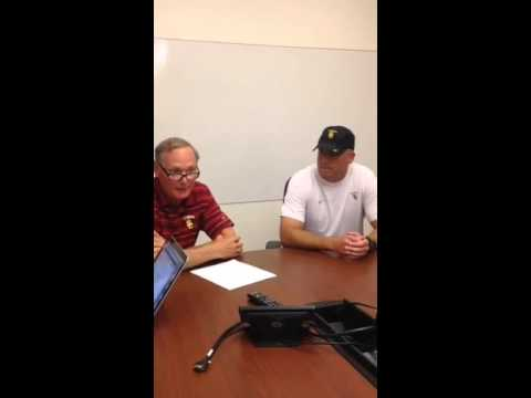 AD Pat Haden and OC Clay Helton Speak On Steve Sarkisian