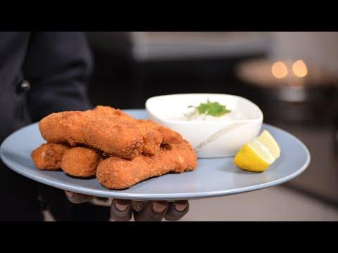 Crispy Fish Fingers With Homemade Tartare Sauce