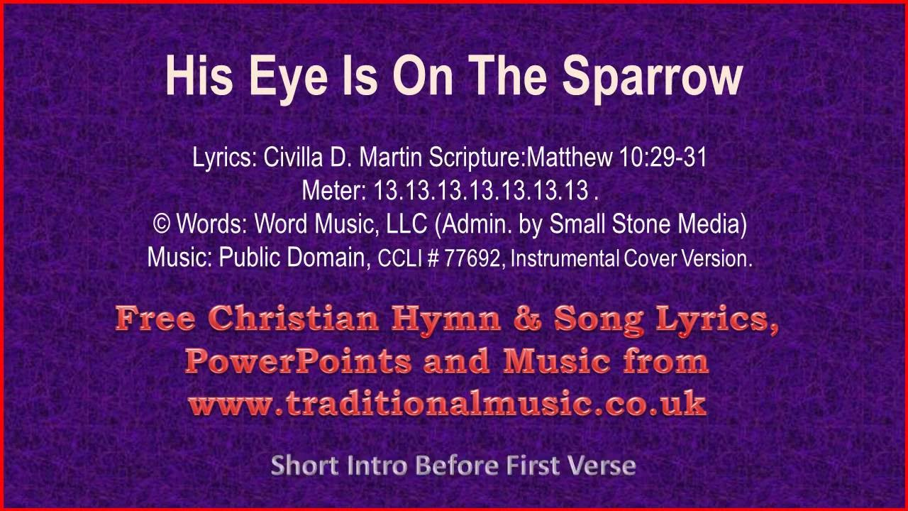 His Eye Is On The Sparrow(viola section) - Hymn Lyrics & Music
