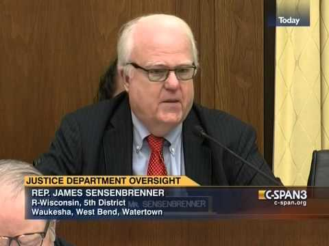 Sensenbrenner presses Holder on Clapper's perjury