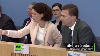Merkel-Sprecher nach vermeintlichem Giftgasangriff: