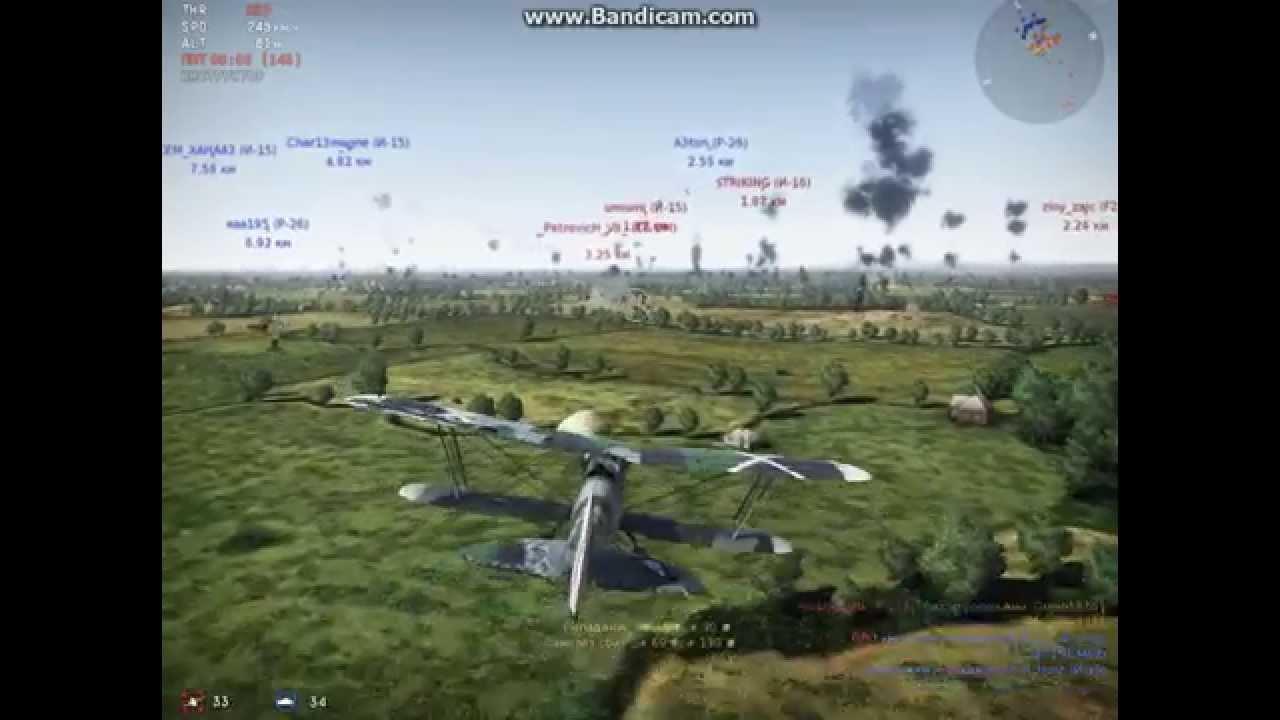 war thunder самолеты видео