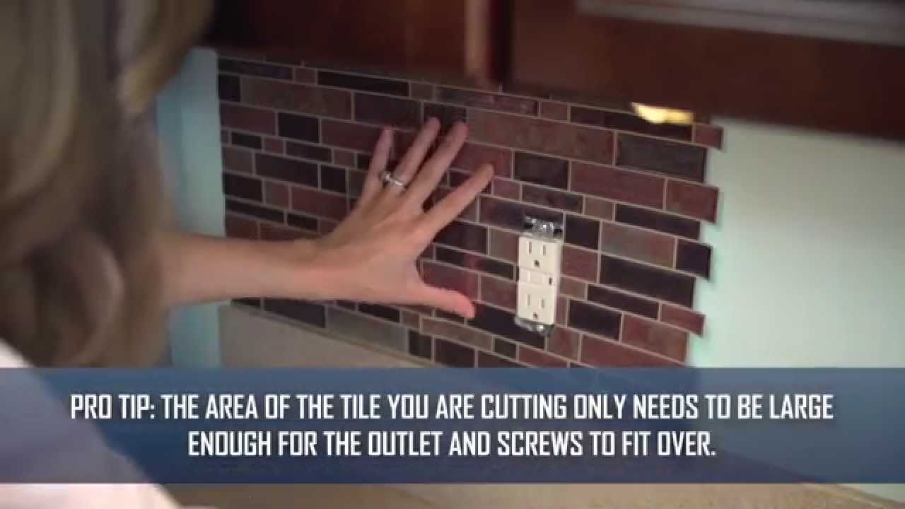 - Step 4: How To Apply Peel And Stick Tiles Around An Outlet - YouTube