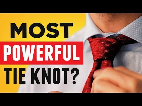 POWER Tie Knot EVERY MAN Needs To Know! (EASIEST Full Windsor Necktie Knot Video Guide Tutorial)