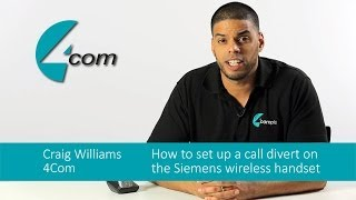 Siemens (Unify)- How to set up a call divert on the Siemens wireless handset