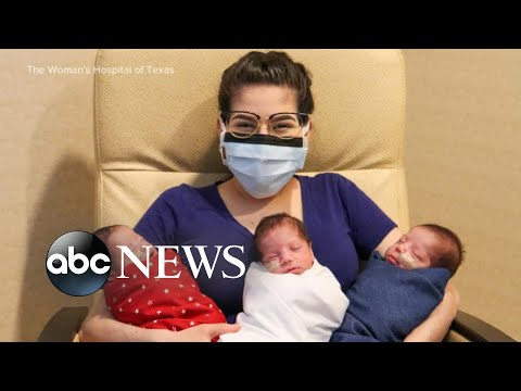 Mom survives COVID, gives birth to triplets | WNT