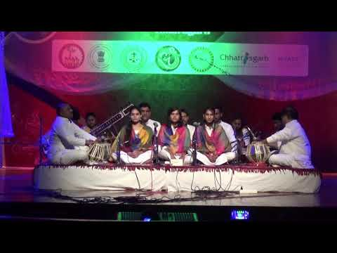 Jay Jay He  - Saraswati Vandana by students of Vocal Department of I.K.S.V. Khairagarh