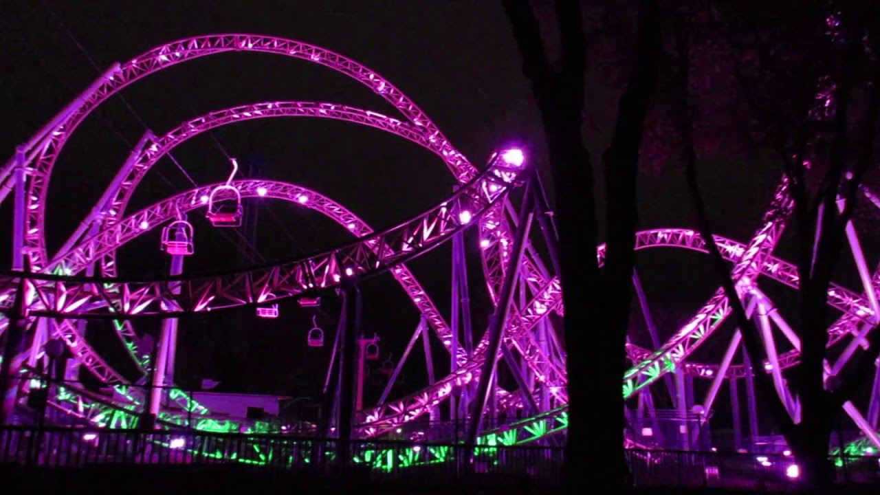 Best Of The Monster Roller Coaster Lighting