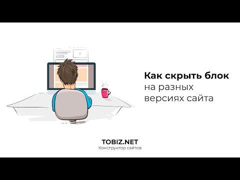 Как скрывать блок на конструкторе TOBIZ NET