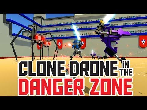 No Upgrade Challenge - Diamond! - Clone Drone in the Danger Zone Gameplay - 동영상