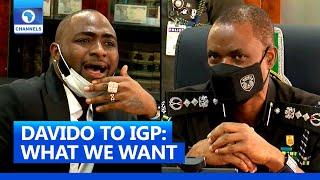 [FULL VIDEO]#ENDSARS: Davido Presents Demands Of Protesters To IGP