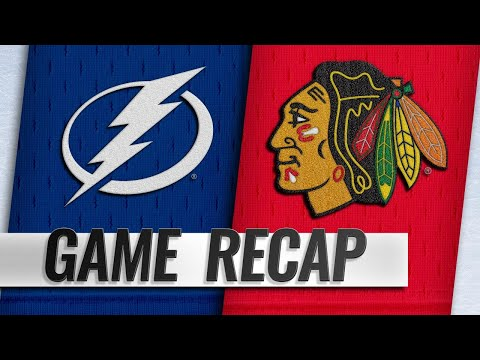 Lightning double up Blackhawks, 6-3
