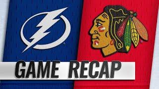 Lightning double up Blackhawks, 6-3