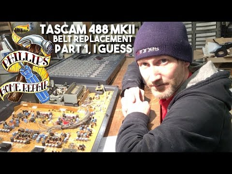 Tascam 488 MKII Belt Replacement and Troubleshooting