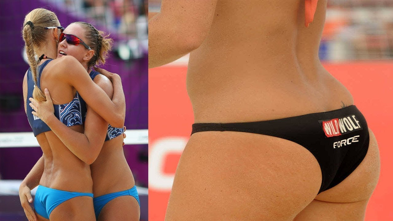 Hot female naked volleyball players