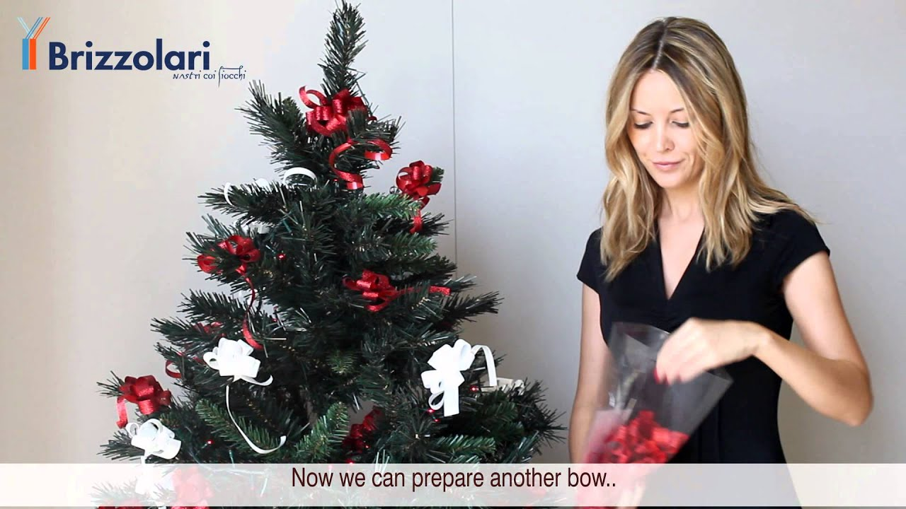 Make Bows For Christmas Tree