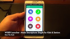 Wiser Launcher - Make Smartphone Simple for Kids & Seniors