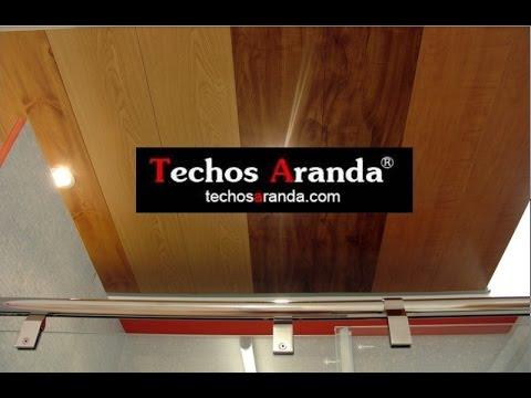Plafon de madera plafones de madera para techo youtube for Plafones de madera pared