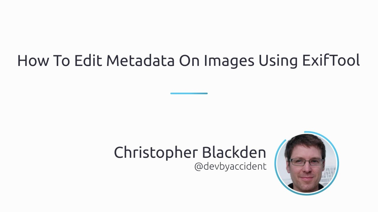 How to edit metadata on images using ExifTool
