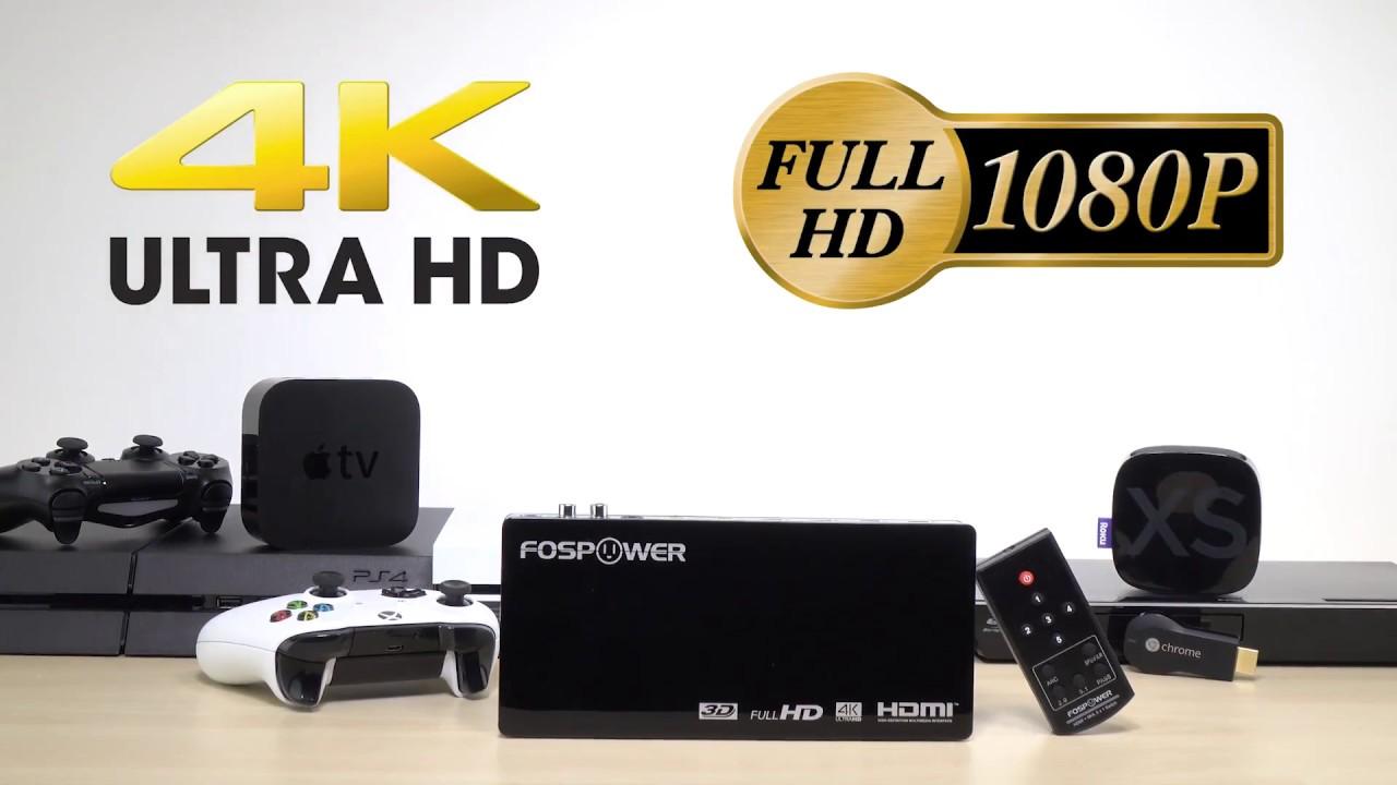 fospower hdmi  5x1 4K Audio Extractor HDMI Switch, FosPower FOSAV-2179 and How to ...