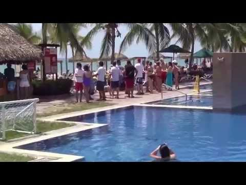Atraction in pool area of Royal Decameron Beach resort. PANAMA. March - 2015.