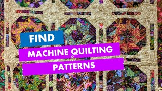 Find Machine Quilting Patterns Fast