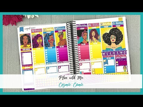 Plan with Me | Cosmic Comic | Feat. Golden Plans Co. | Organized with Olivia