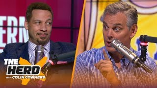 Chris Broussard reveals NBA Playoffs picks, says Jeanie Buss chose Kobe over Magic | NBA | THE HERD