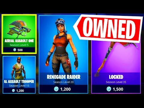 BUYING THE RENEGADE RAIDER SKIN In Fortnite Season 1 Item Shop