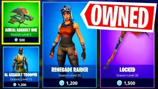BUYING THE RENEGADE RAIDER SKIN In Fortnite Saison 1 Item Shop