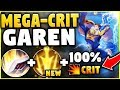 WTF?! GAREN CAN DO WHAT WITH THIS NEW LETHAL TEMPO BUFF? ONE SHOT WITHOUT SPIN! - League of Legends