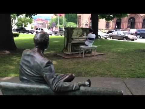 Serenading Albany with piano music