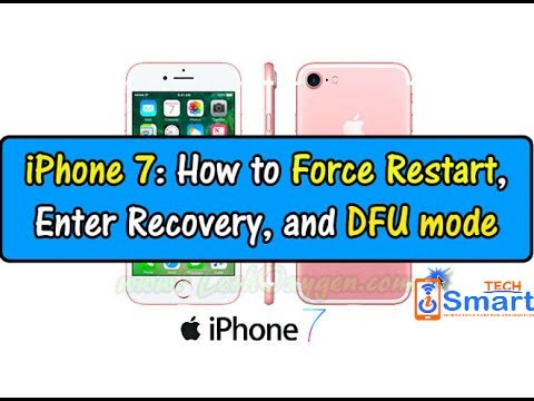 How to put iPhone 7 and 7plus on DFU mode to update or restore