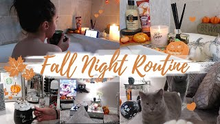 COZY FALL NIGHT ROUTINE | Cook with me, Skin routine + Self-care pamper!