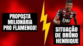 TV GLOBO PREPARA PROPOSTA MILIONÁRIA PRO FLAMENGO   SITUAÇÃO DE BRUNO HENRIQUE   FLA NA CONMEBOL