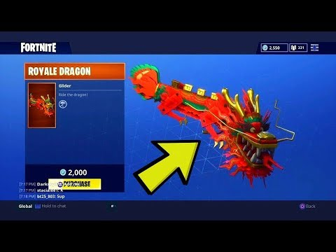 NEW ROYALE DRAGON GLIDER GAMEPLAY (FORTNITE BATTLE ROYALE)